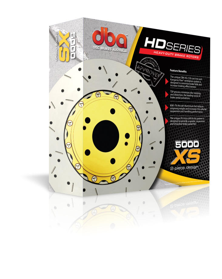 DBA 5000 Series XS Cross Drilled Brake Rotor Box
