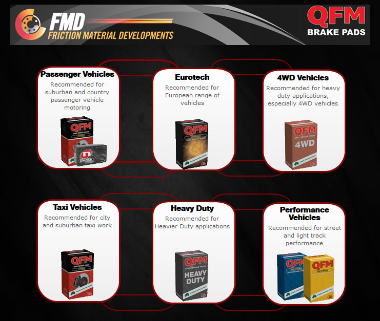 QFM Product Range Premium 4WD Eurotech Heavy Duty